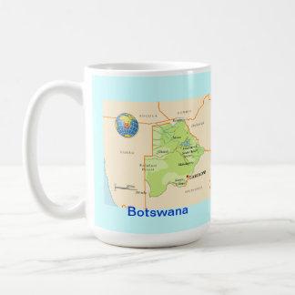 Botswana map & flag coffee mug