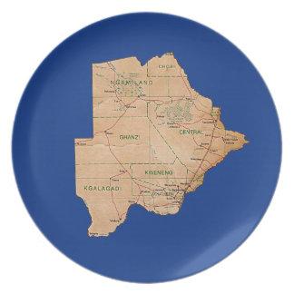 Botswana Map Plate