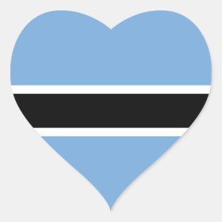 Botswana Pegatina En Forma De Corazón
