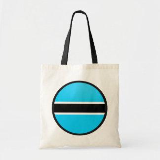 Botswana quality Flag Circle Tote Bag