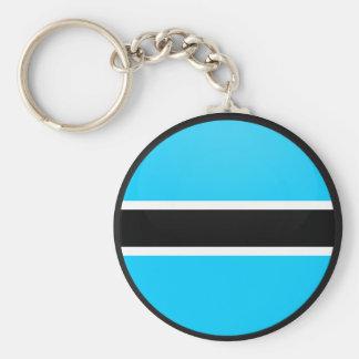 Botswana quality Flag Circle Keychain