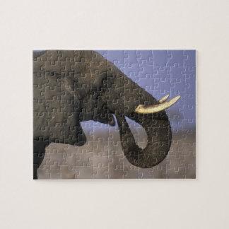 Botswana, reserva del juego de Moremi, elefante de Puzzles