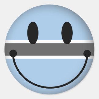 Botswana Smiley Classic Round Sticker