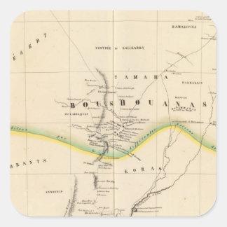 Botswana, South Africa 51 Square Sticker