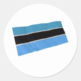 botswana round stickers
