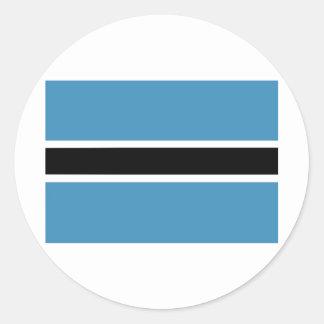 botswana round sticker