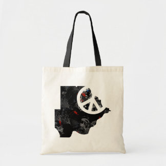 Botswana Trendy Peace Sign with Batswanian map Tote Bags