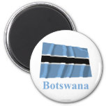 Botswana Waving Flag with Name Refrigerator Magnet