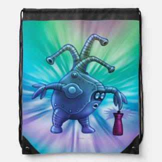 BOTT ALIEN ROBOT CARTOON Drawstring Backpack