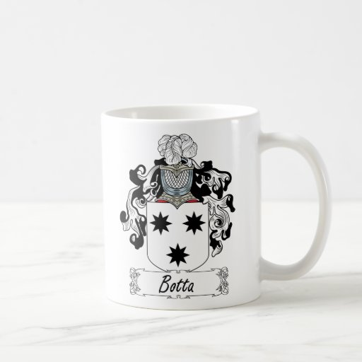 Botta Family Crest Classic White Coffee Mug