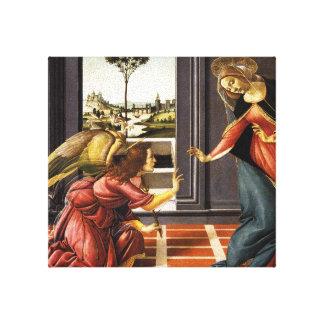 Botticelli Annunciation Canvas Print