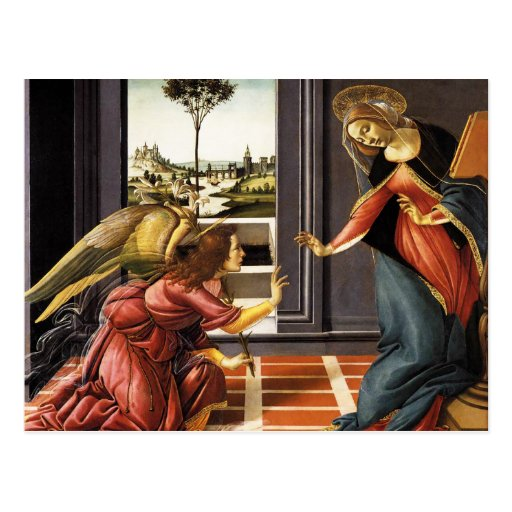 Botticelli Annunciation Postcard