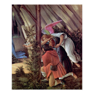 Botticelli-Birth of Christ (Mystic birth) Detail Poster