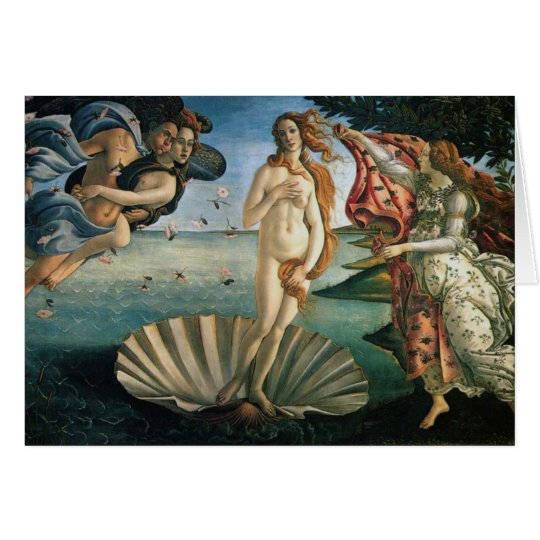 Botticelli Birth of Venus Card