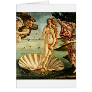 Botticelli Birth Of Venus Renaissance Art Painting Card