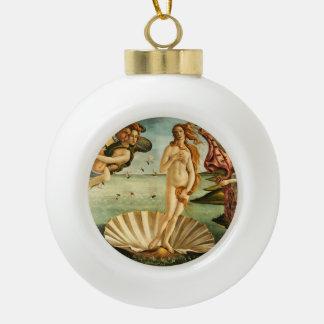 Botticelli Birth Of Venus Renaissance Art Painting Ceramic Ball Christmas Ornament