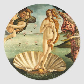 Botticelli Birth Of Venus Renaissance Art Painting Classic Round Sticker