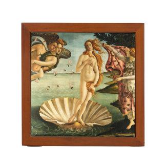Botticelli Birth Of Venus Renaissance Art Painting Desk Organizer