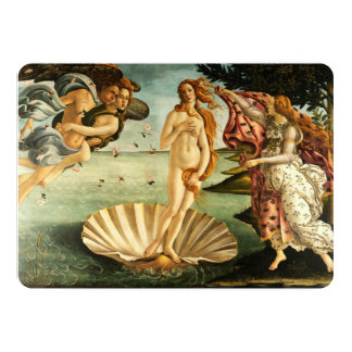 Botticelli Birth Of Venus Renaissance Art Painting Personalized Announcement
