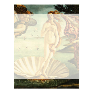 Botticelli Birth Of Venus Renaissance Art Painting Letterhead
