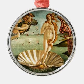 Botticelli Birth Of Venus Renaissance Art Painting Metal Ornament