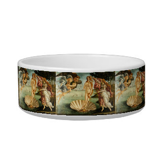 Botticelli Birth Of Venus Renaissance Art Painting Cat Bowls