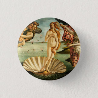 Botticelli Birth Of Venus Renaissance Art Painting Pinback Button