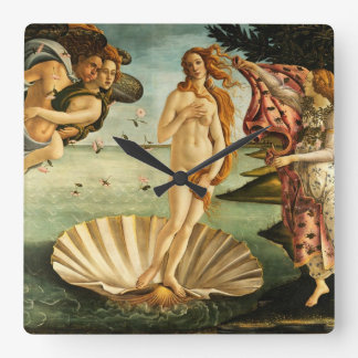 Botticelli Birth Of Venus Renaissance Art Painting Square Wall Clock