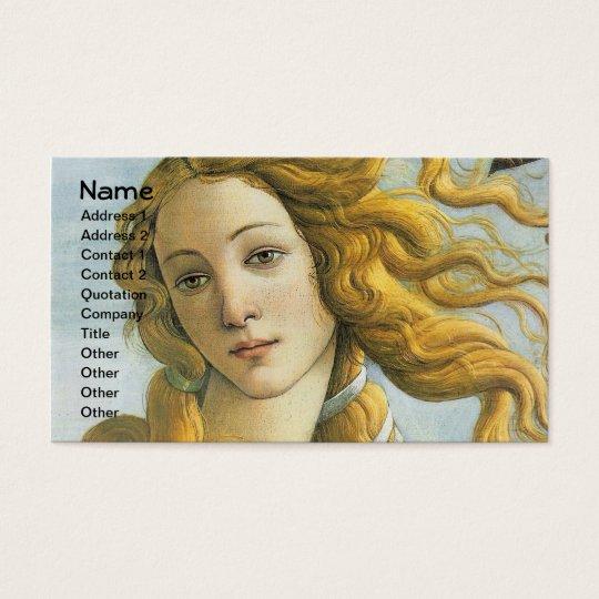 Botticelli Birth of Venus Renaissance Fine Art Business Card