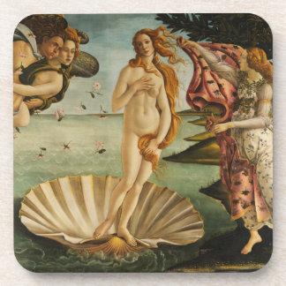 Botticelli el nacimiento de los prácticos de costa posavasos de bebidas
