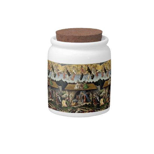 botticelli mystical nativity candy jar - Christmas Candy Jars