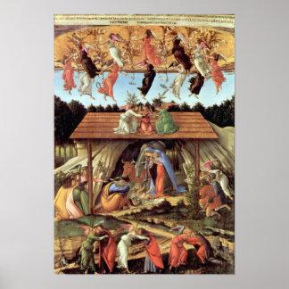 Botticelli-Nacimiento de Cristo (nacimiento místic Póster