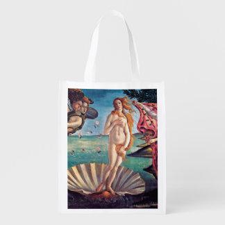 Botticelli - nacimiento de Venus Bolsa Reutilizable
