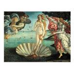 Botticelli - nacimiento de Venus Postal