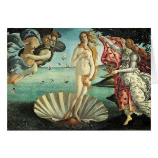 Botticelli - nacimiento de Venus Tarjeton