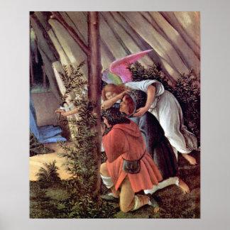 Botticelli-Nacimiento del detalle de Cristo (nacim Póster