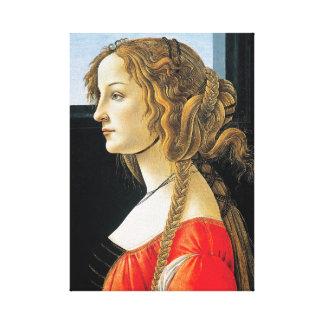 Botticelli Portrait of a Young Woman Canvas Print