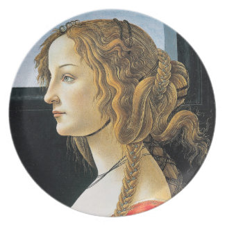 Botticelli Portrait of a Young Woman Plate