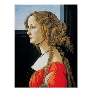Botticelli Portrait of a Young Woman Poster