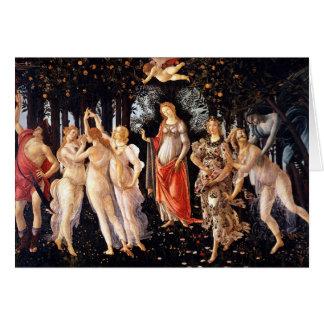 BOTTICELLI -Primavera 1482 Card