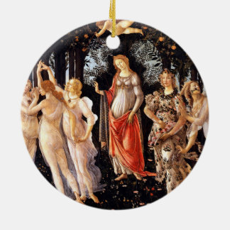 BOTTICELLI -Primavera 1482 Ceramic Ornament