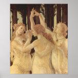 Botticelli-Primavera de Sandro (Primavera), detall Posters
