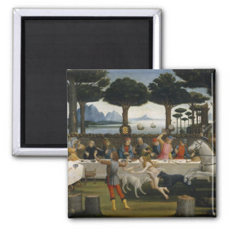 Botticelli Renaissance Painting 2 Inch Square Magnet