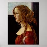 Botticelli-Retrato de Simonetta Vespucci Impresiones