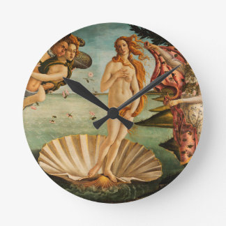 Botticelli's Birth of Venus Round Clock