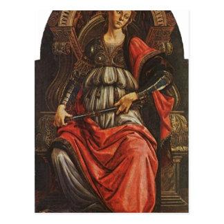 Botticelli Sandro Fortitudo 1470 Technique Temper Post Card