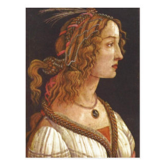 Botticelli Sandro Portr t einer jungen Frau Simo Postcards