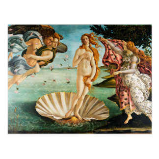 BOTTICELLI - The birth of Venus 1483 Postcard