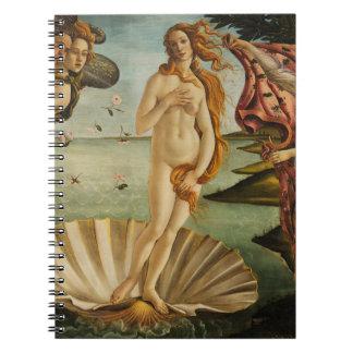 Botticelli The Birth of Venus Spiral Notebook