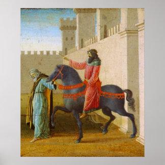 Botticelli - The Triumph OF Mordecai Print